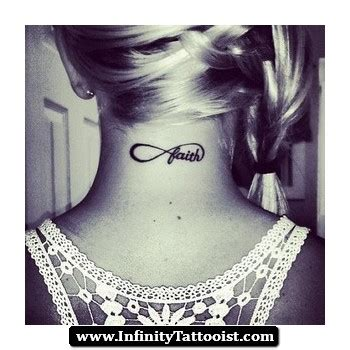 infinity tattoo back of neck faith tattoos page 63