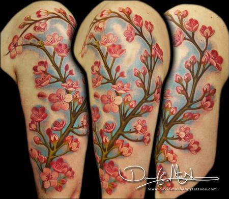 cherry blossom half sleeve tattoo designs david mushaney tattoos tattoos realistic cherry
