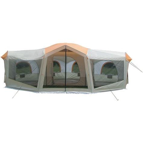Ozark Trail 3 Room Cabin Tent by Ozark Trail 10 Person 24 X 17 Family Cabin Tent Large