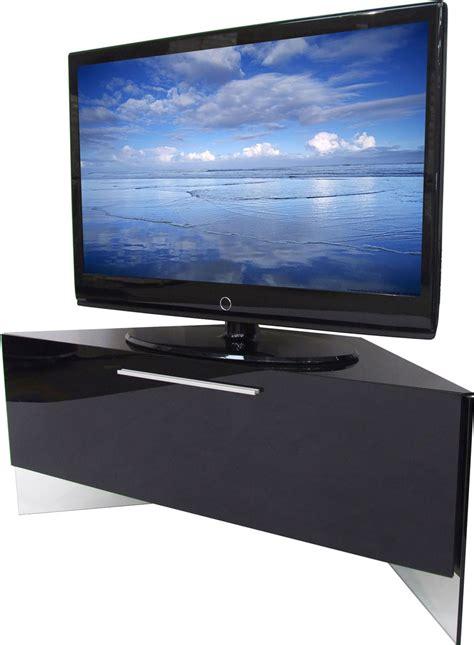 ANTARES High Gloss Black Corner TV Cabinet