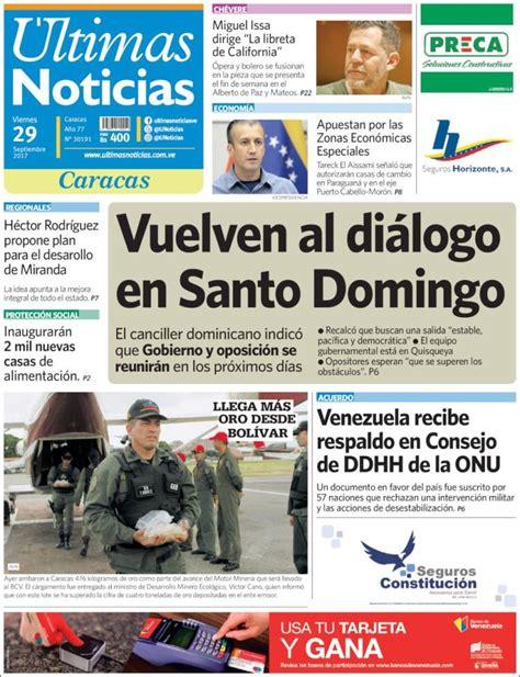 noticias de estilo de vida de venezuela y el mundo titulares de la prensa regional y nacional de este viernes