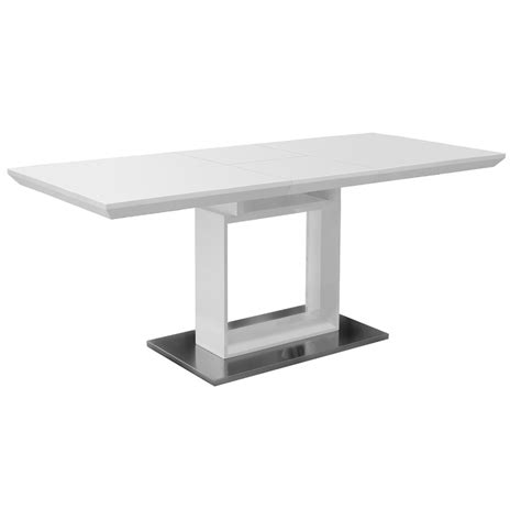 White Gloss Extendable Dining Table White High Gloss Extending Dining Table