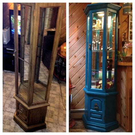 painting curio cabinet ideas curio cabinet before and after rustoleum spray paint in