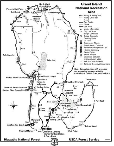map of grand island grand island map lake superior