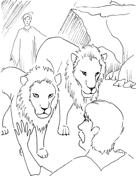 daniel and the lions den coloring page ppinews co