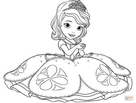 Get This Princess Sofia The First Coloring Pages To Print Princess Sofia Sheets Printable
