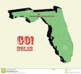 3d map of florida state fsu go noles stock
