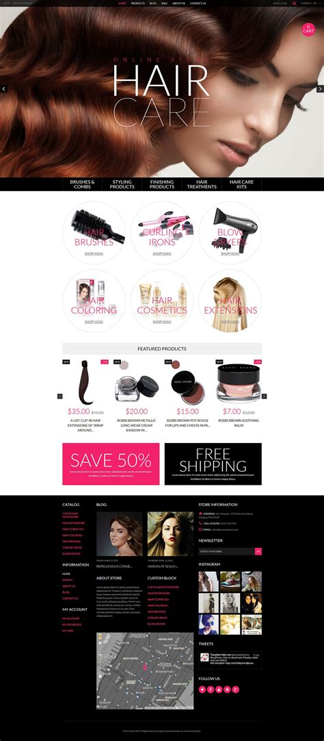 shopify themes cosmetics cosmetics store responsive shopify theme 53785