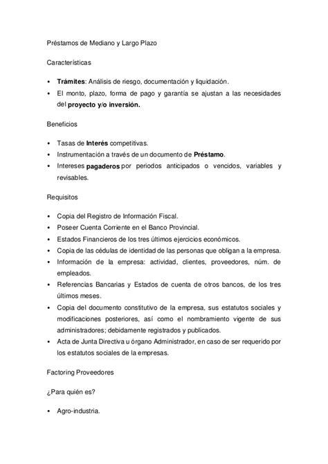 requisitos para creditos personales banco nacion requisitos para solicitar el credito flexible del banco