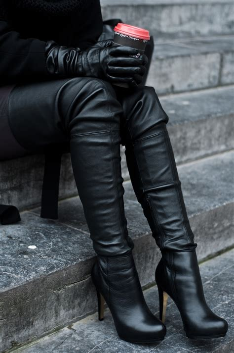 thigh high leather boots thigh high reiding hoodred reiding