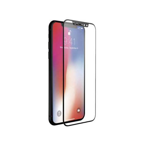 en verre tremp 233 contour iphone x noir tout pour phone