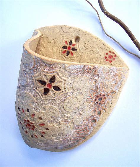 Handmade Ceramic Planters - handmade ceramic wall planter by brick house