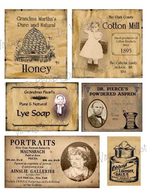 primitive farmhouse pantry jar labels set sheet