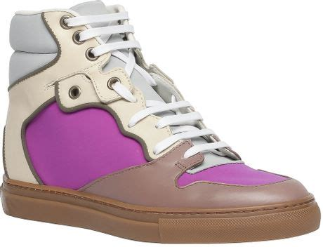 pink balenciaga sneakers balenciaga stretch sneakers pink in pink lyst