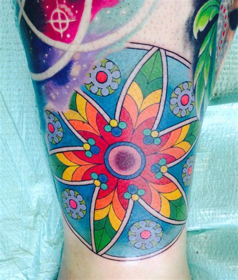 color mandala tattoo color mandala done by wes s co