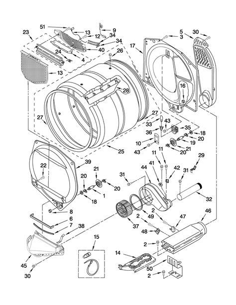 whirlpool duet parts diagram bulkhead parts diagram parts list for model wed5500xw0