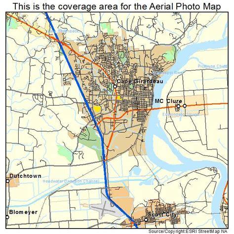 missouri map cape girardeau aerial photography map of cape girardeau mo missouri