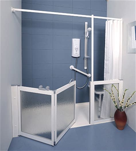 Contour Fixed Panel And Pole Wfy White Half Height Shower Half Height Shower Doors