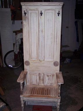 benches made from old doors hall tree bench made from an old door craftiness pinterest