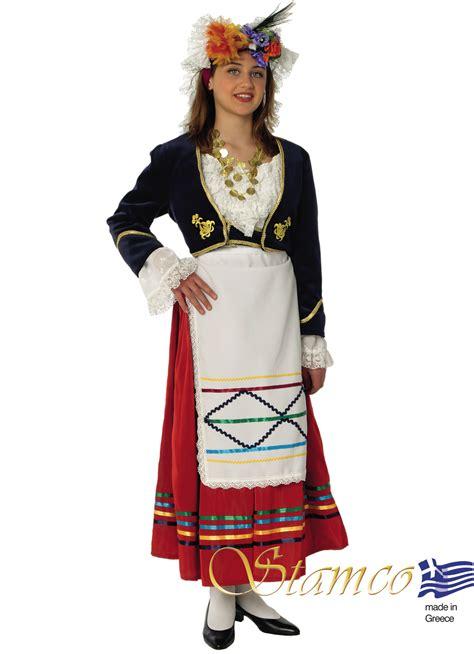 greek traditional costumes corfu woman stamco