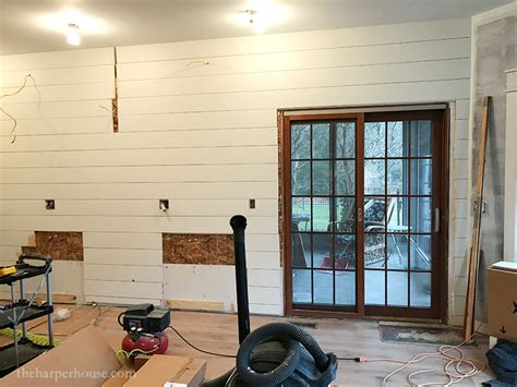 shiplap kitchen wall kitchen remodel adding a shiplap wall the harper house
