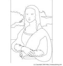 free coloring pages of the mona lisa