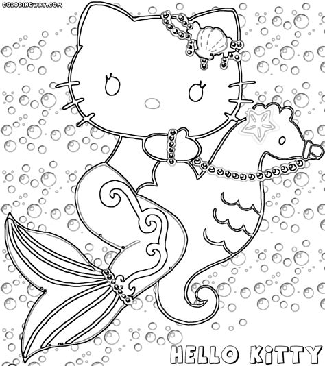 hello kitty cowgirl coloring pages hello kitty mermaid coloring pages coloring pages to