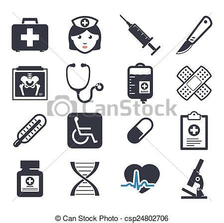 iconos de pharma y salud vector de stock 10920725 medicina set vector elementos iconos clipart