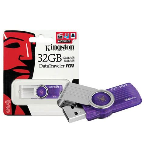 Flashdisk Kingston 32gbflash Disk Kingston 32gbusb 20 Kingston 32gb Kingston 32 Gb Datatraveler 101 Usb 2 0 Flash Drive