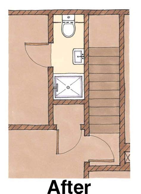 Small Bathroom Ideas With Tub by Fitting A Shower In A Small Bath Floorplan Fine Homebuilding