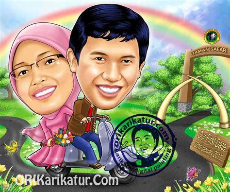 Karikatur Wedding Tema Pernikahan karikatur wedding prewedding orikarikatur