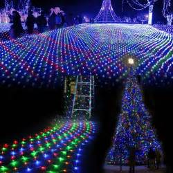outdoor lights net 3m 2 m waterproof led net mesh string lights