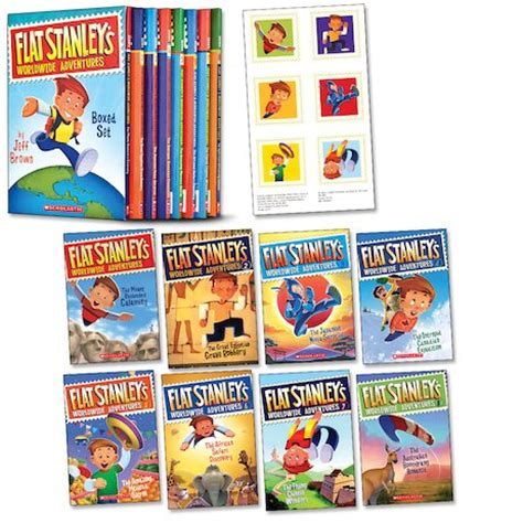 flat stanley s worldwide adventures 14 on a mission for majesty books flat stanley s worldwide adventures boxed set scholastic