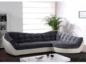 Tweed Sectional Sofa Canap 233 Meridienne Gris