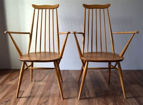 ercol bench ercol goldsmith carver chairs pair vintro