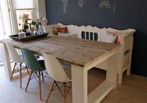 landelijke tafel zelf maken steigerhouten tafel millau gemaakt van extra dikke