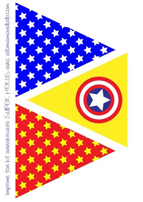 printable heroes download superheroes free printable bunting oh my fiesta for geeks