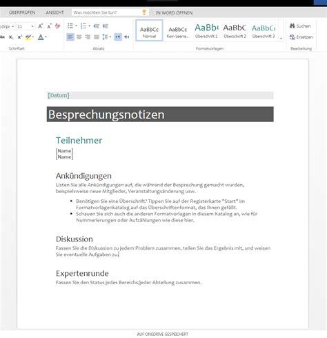 Word Vorlage Handzettel Besprechungsnotizen Zum Runterladen Wordvorlage De