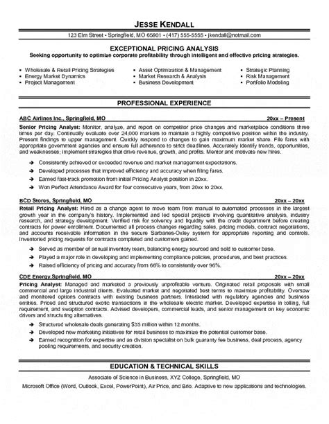 Best Resume Action Verbs by Pricing Analyst Resume