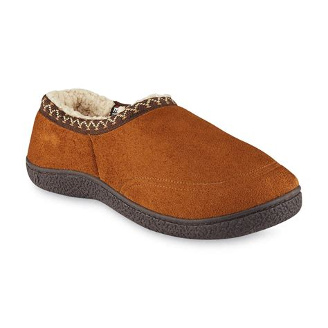 mens isotoner slippers isotoner s brown slipper shoes s shoes
