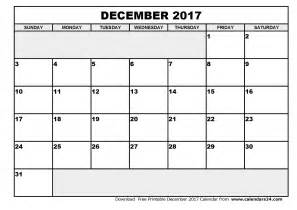 Calendar December 2017 Word Template December 2017 Calendar Word Printable Template With