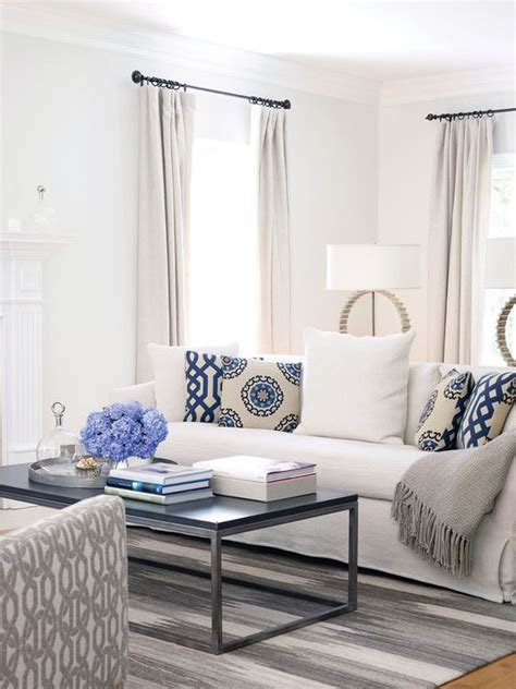 blue and white living room decorating ideas bring the shore into home with beach style living room