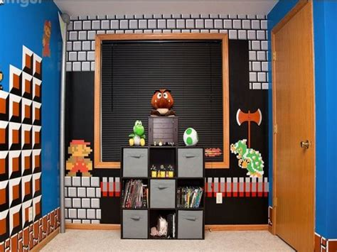 mario brothers bedroom wall shelves for boys room super mario bros bedroom ideas