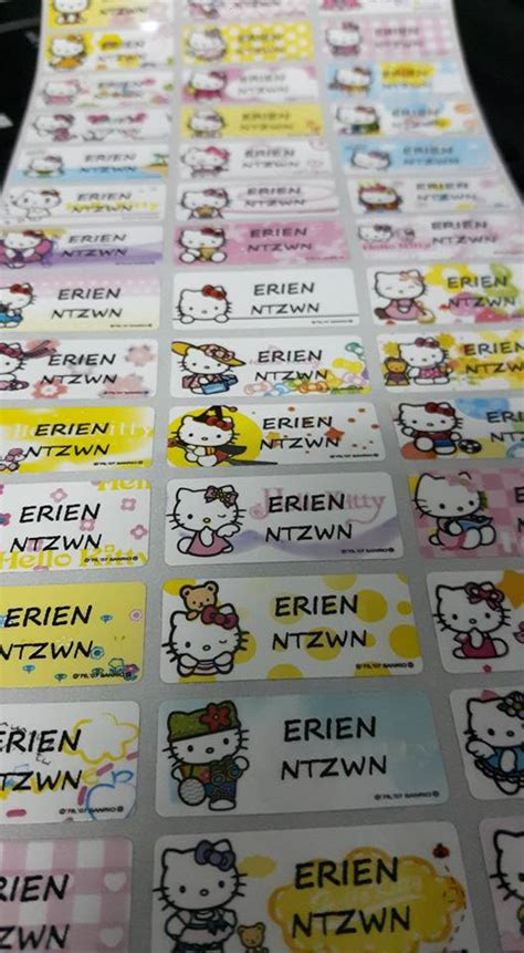 Stiker Label Nama Segi Empat Logo Tag sticker label produk nama dan majlis