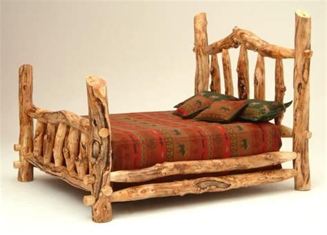 Cheap Log Bed Frames Log Bed Frames Discount Rustic Log Bed Log Bed Frame Furniture With Brown Wooden Headboard And