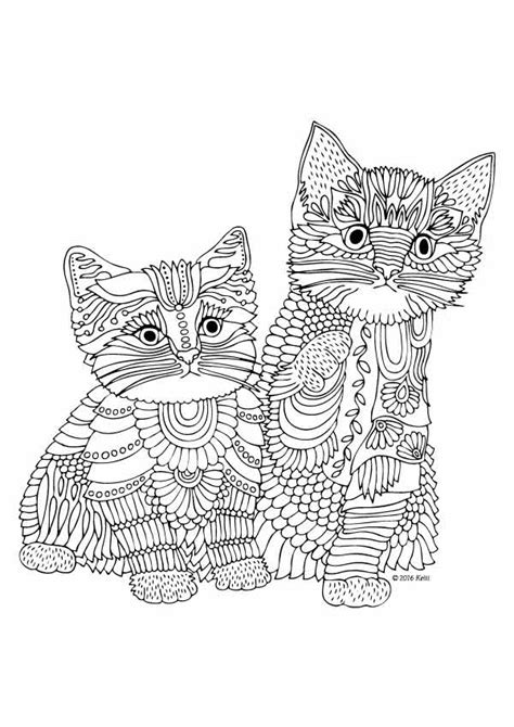 kitten coloring pages for adults wonderful coloring book for grown ups by katerina