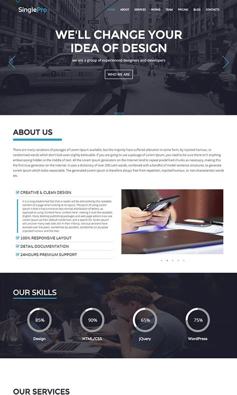 bootstrap themes free one page 26 best free bootstrap html5 website templates february