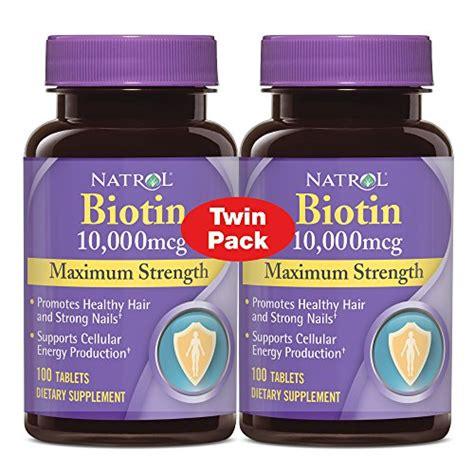 Promo Natrol Biotin Maximum Strength 10 000 Mcg 100 Tablets mua vitamin b7 natrol biotin 10 000 mcg maximum strength