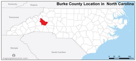 Burke County Nc Records Free And Open Source Location Map Of Burke County Carolina Mapsopensource