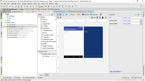 android studio layout manager android er first try constraintlayout